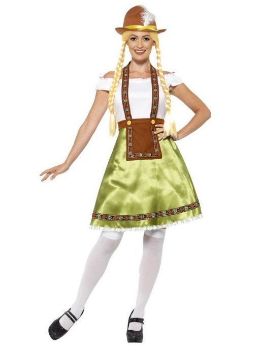 Bavarian Maid Costume, Green
