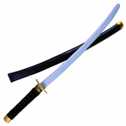 Black Handle Ninja Sword Slv Blade-31in