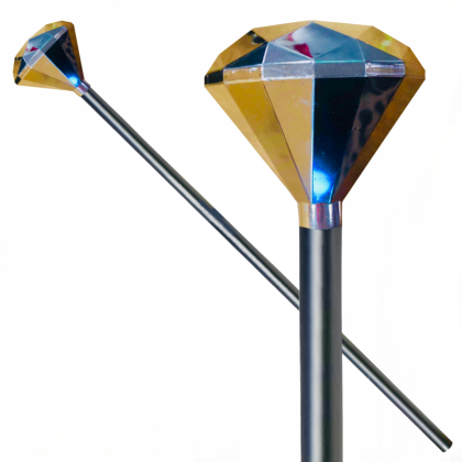 Gold Diamond Top Pimp 90cm Cane