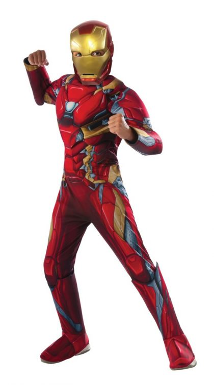 Deluxe Muscle Chest Kids Iron Man Costume