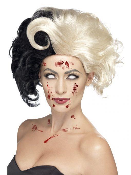 Evil Madame Wig, Black & Blonde