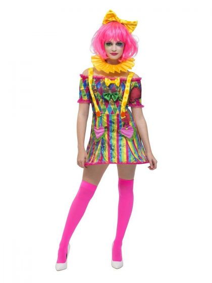 Fever Patchwork Clown Costum