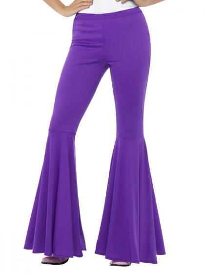Flared Trousers, Ladies, Purple