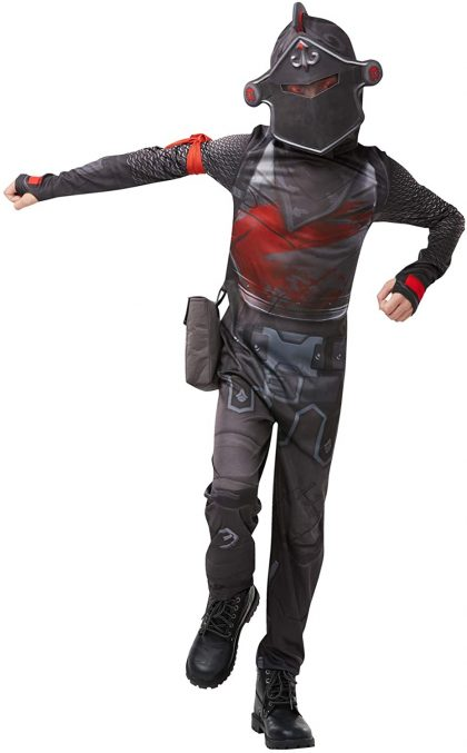 Fortnite Black Knight Tween Costume Jumpsuit with Mask & Accessories