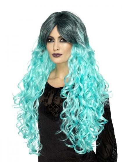 Gothic Glamour Wig, Teal Green
