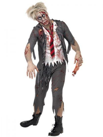 High School Horror Zombie School Boy Costume
