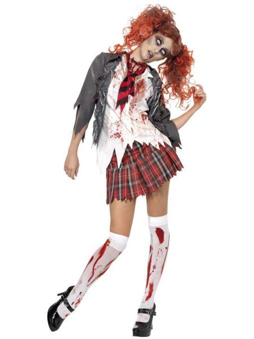 High School Horror Zombie Schoolgirl Costume