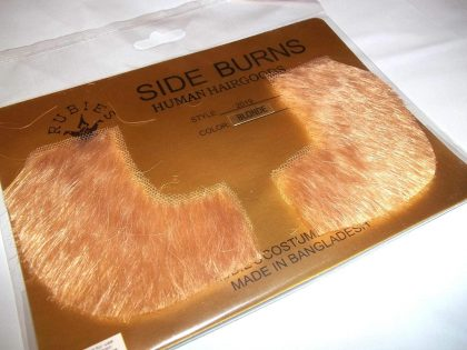Human Hair Sideburns - Blonde