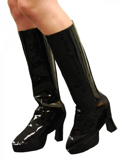 Instant Knee High Boot Tops - Black