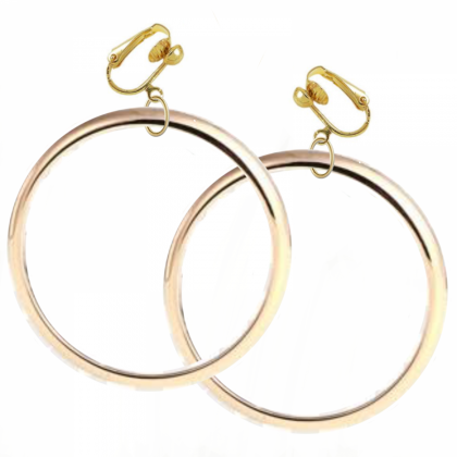 Jumbo Hoop Earrings - Gold