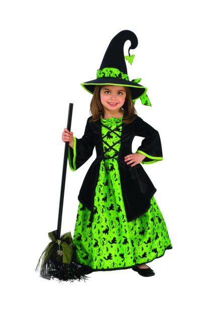 Kids Green Witch Costume