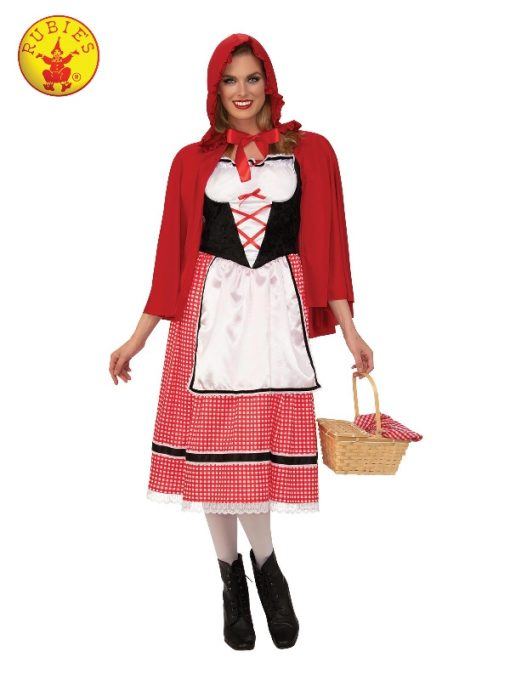 LITTLE RED RIDING HOOD LADIES COSTUME, ADULT