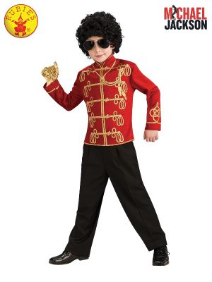 MICHAEL JACKSON RED MILITARY JACKET, CHILD