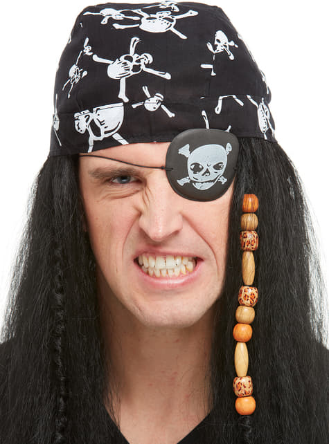 Pirate Eyepatch with Skull & Cross Bones