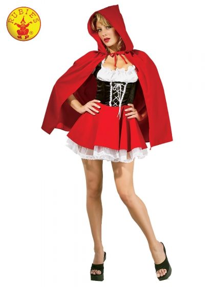 RED RIDING HOOD SECRET WISHES COSTUME, ADULT