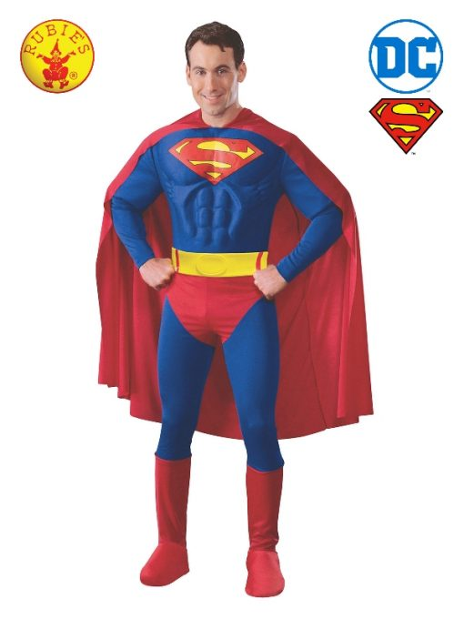 SUPERMAN MUSCLE CHEST COSTUME, ADULT