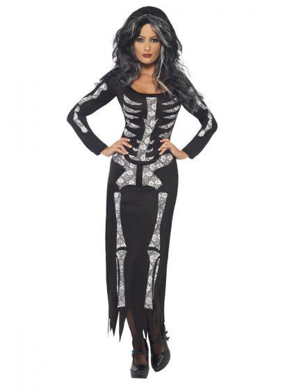 Skeleton Dress Costume, Black
