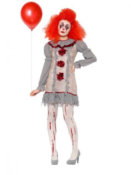 Vintage Clown Lady Costume