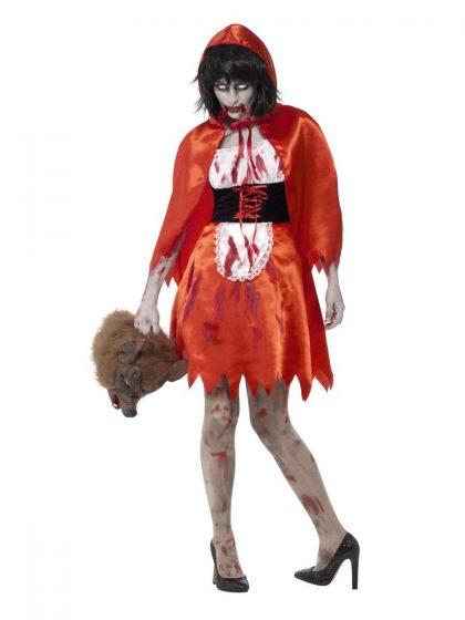 Zombie Little Miss Hood Adult Women's Costume
