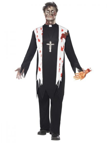 Zombie Priest Adult Men's Costume