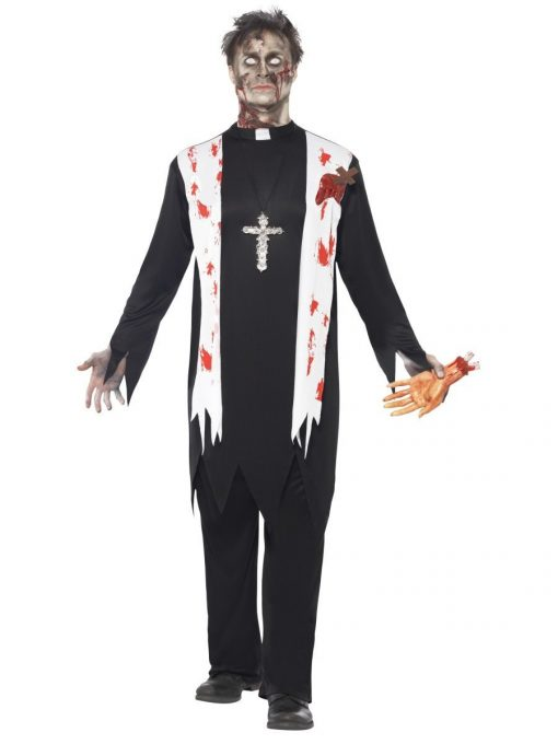 Zombie Priest Adult Men's Costume