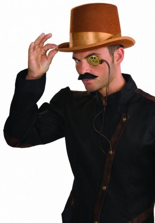 STEAMPUNK BRWN BELL TOPPER HAT
