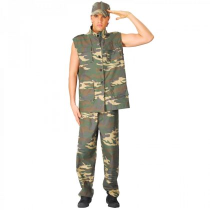 ARMY OFFICER COSTUME - ADULT - LARGE