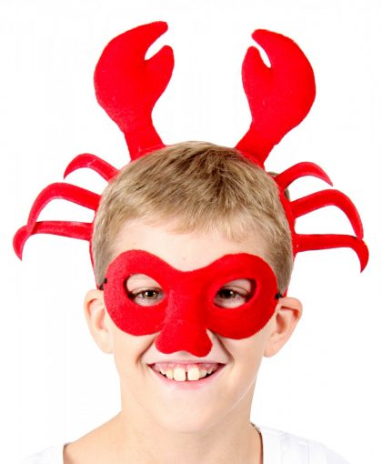 Animal Headband & Mask Set - Crab