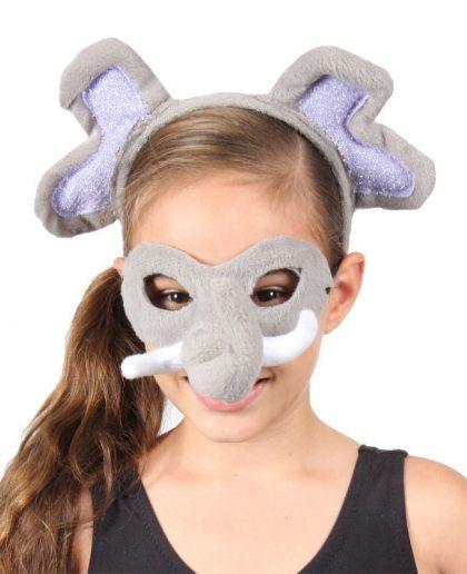 Animal Headband & Mask Set - Elephant