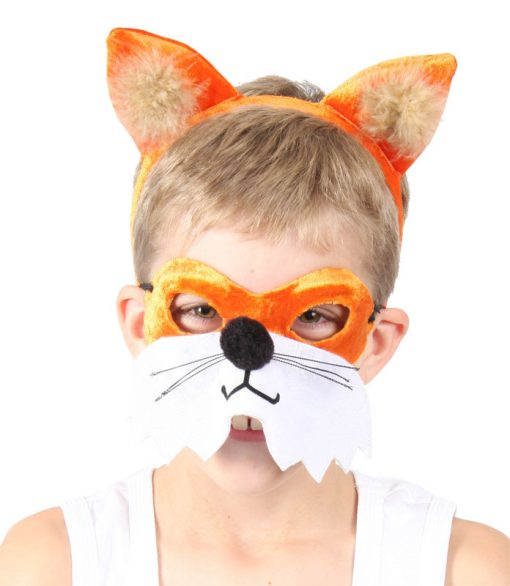 Animal Headband & Mask Set - Fox