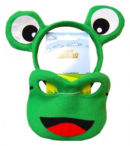 Animal Headband & Mask Set - Frog