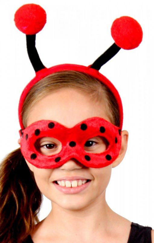 Animal Headband & Mask Set - Lady Bug