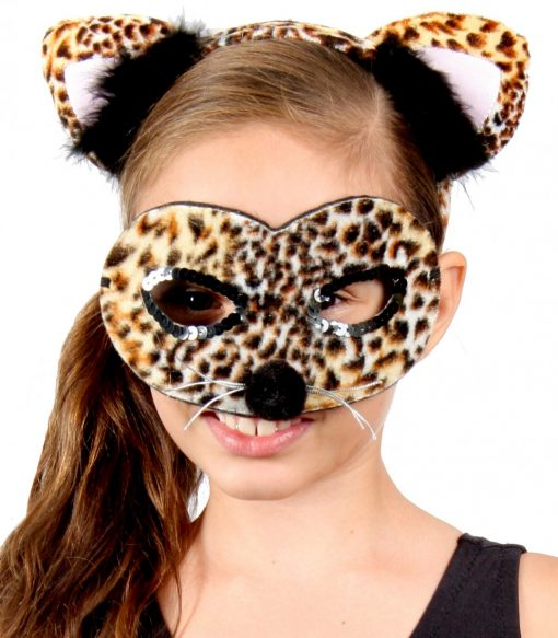 Animal Headband & Mask Set - Leopard