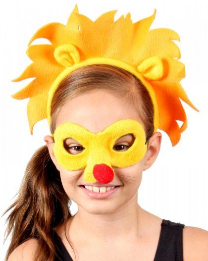 Animal Headband & Mask Set - Lion