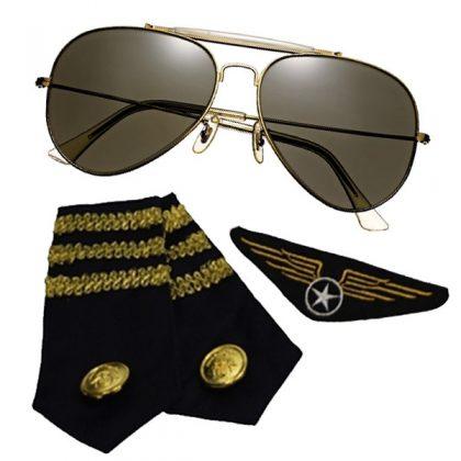 Aviator Kit - Glasses, Epaulets & Badge