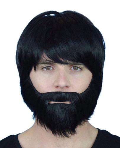 Beard - Black Synthetic with Elastic