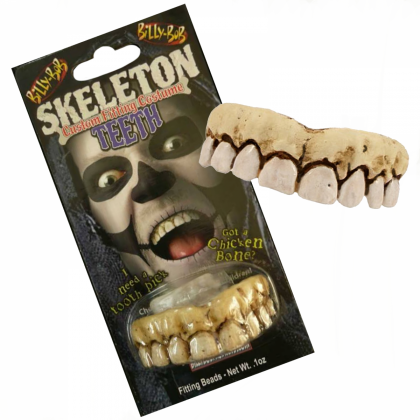 Billy Bob Costume Teeth - Skeleton