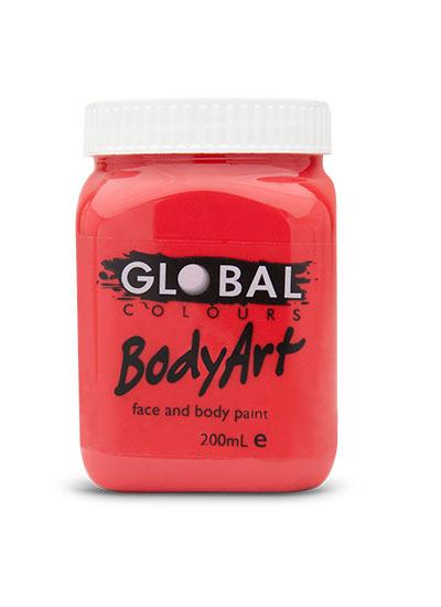 Deep Red - Face & Body Paint Liquid 200ml