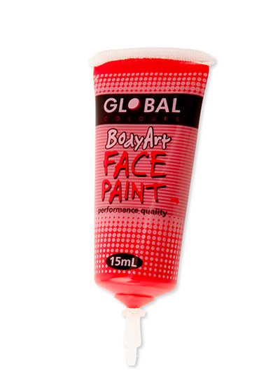 Brilliant Red Face Paint - 15Ml Tube