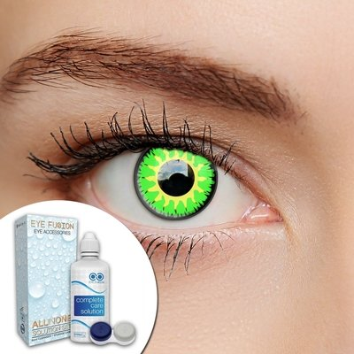 Complete set of Scary Goblin Contact Lenses & Solution