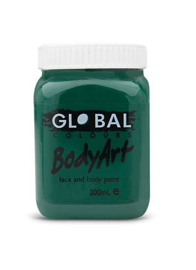 Dark Green - Face & Body Paint Liquid 200ml (Green Deep)