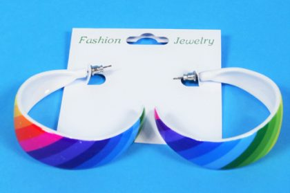 Ear Rings - Rainbow Hoop