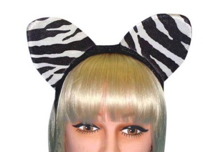 Ears - Zebra Ears On Headband (A)