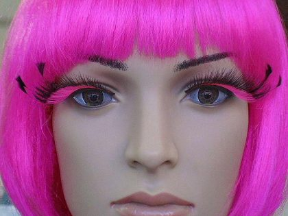 Eyelash - Feather Tip Pink/Black