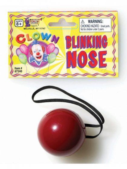 Flashing Clown Nose - Plastic