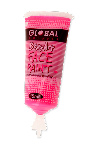 Fluro Pink Face Paint - 15Ml Tube