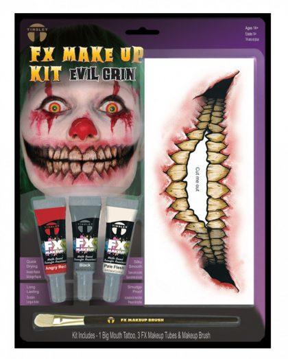 Fx Makeup & Tattoo Kit - Evil Grin