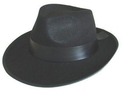 Gangster Hat - Black Feltex