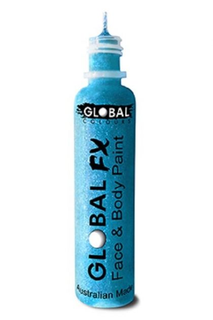 Global FX 36ml Glitter Gel - Neon Blue - Face Painting party