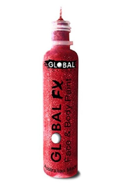 Global FX 36ml Glitter Gel - Red - Face Painting Face paint party